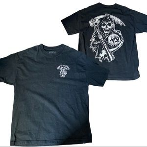 Sons Of Anarchy Road Gear Black T-Shirt size XL